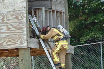 Fire Science Technology student training