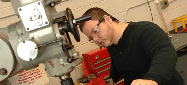 Machine Tool Technology student at work