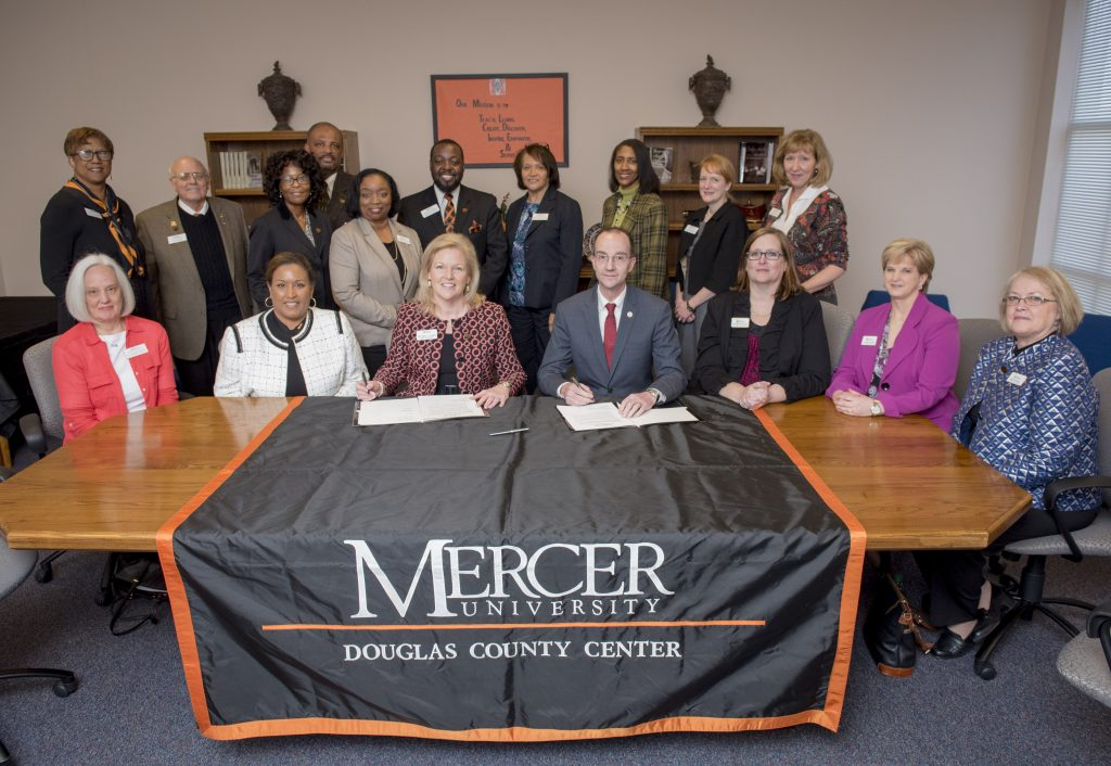 Mercer University, West Georgia Technical College Sign