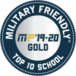 military friendly logo gold