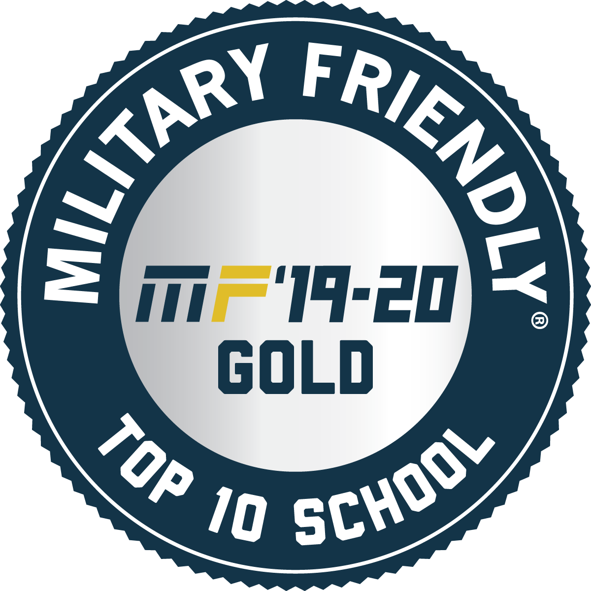 military friendly logo bronze