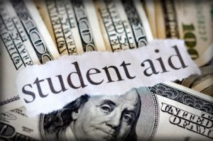 Dollar bills for student aid