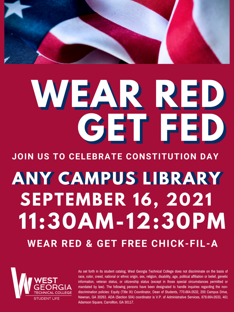 constitution day september 17 11am to 2pm campus libraries