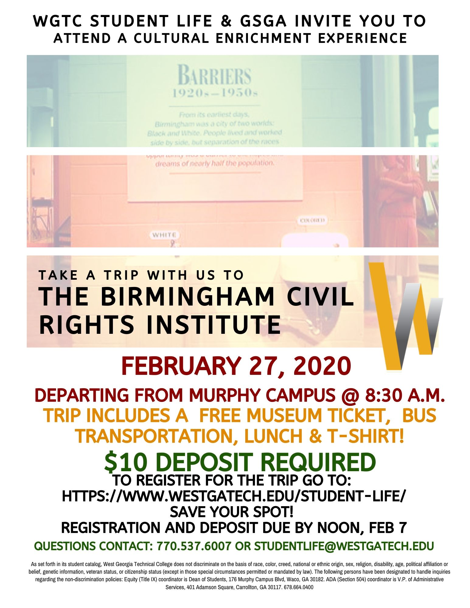 Birmingham civil rights institute trip february 27 2020