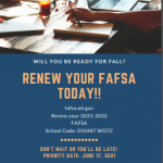 renew your fafsa today