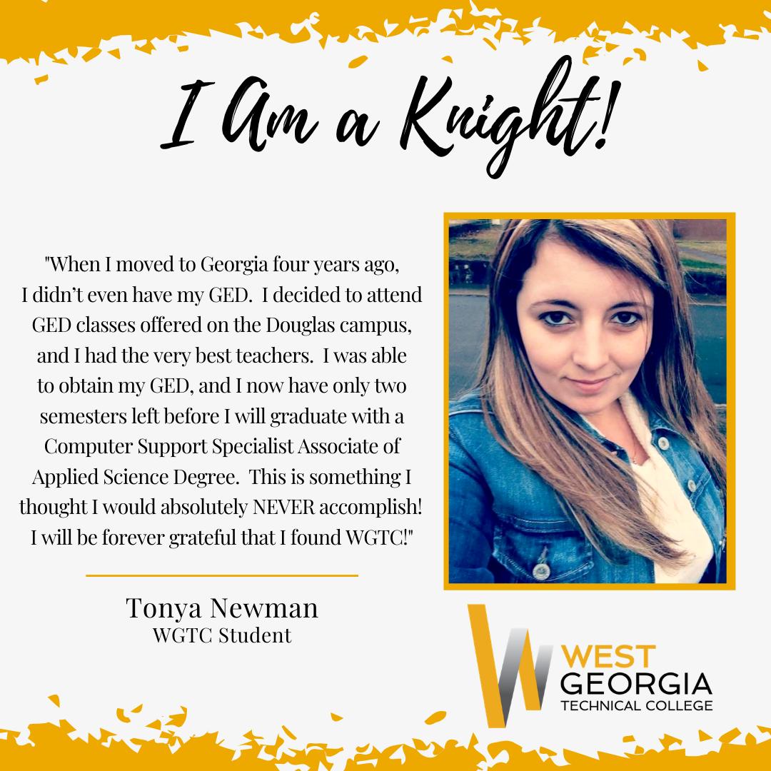Tonya Newman I am a knight profile
