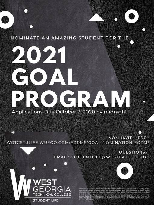 GOAL 2021 information flyer