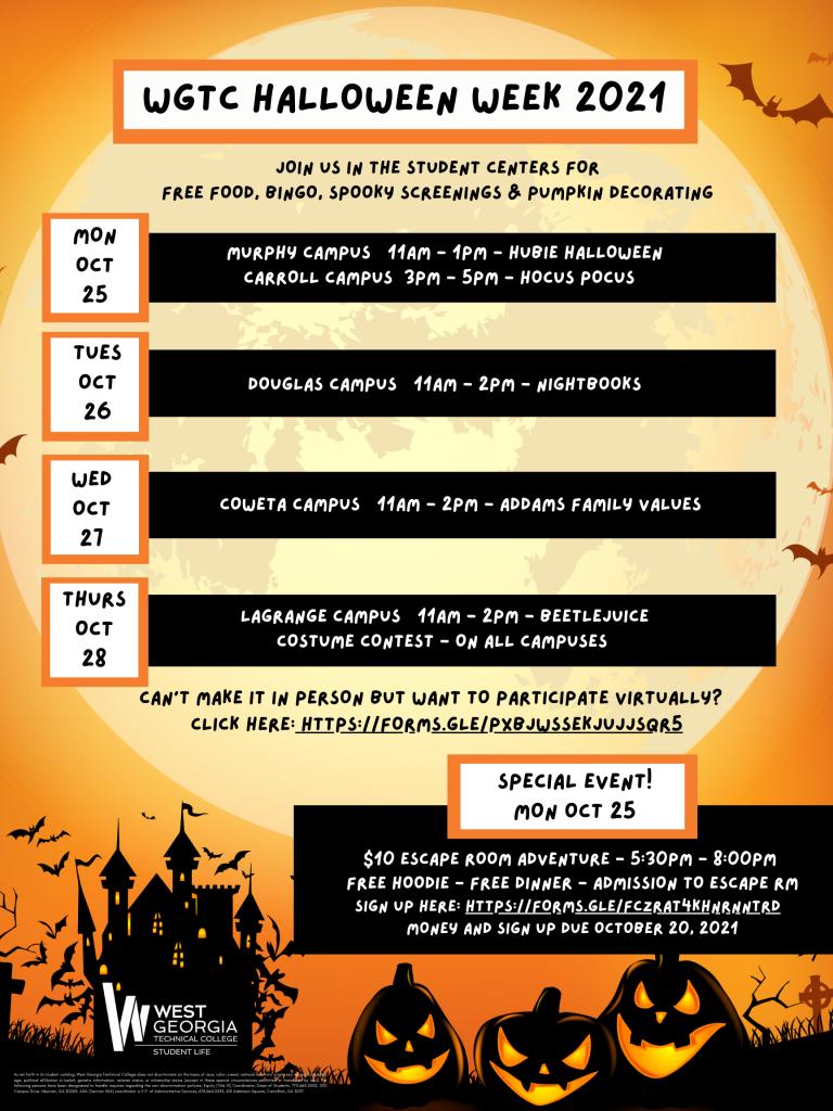 halloween info flyer