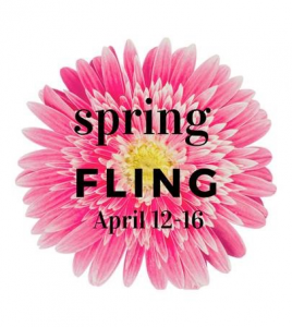 Flower, spring fling march 29-april 1