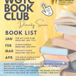WGTC Book club info joy luck club jan 12, hidden figures jan 25, the hate u give feb 25, the sun is also a star march 25, each month we read a book then discuss and watch the movie together, social distanced or virtually. Participate and keep a book for free, sighn up by deadline by clicking the link
