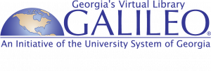 GALILEO Georgia's virtual library logo an initiative of the university system of georgia text by a globe