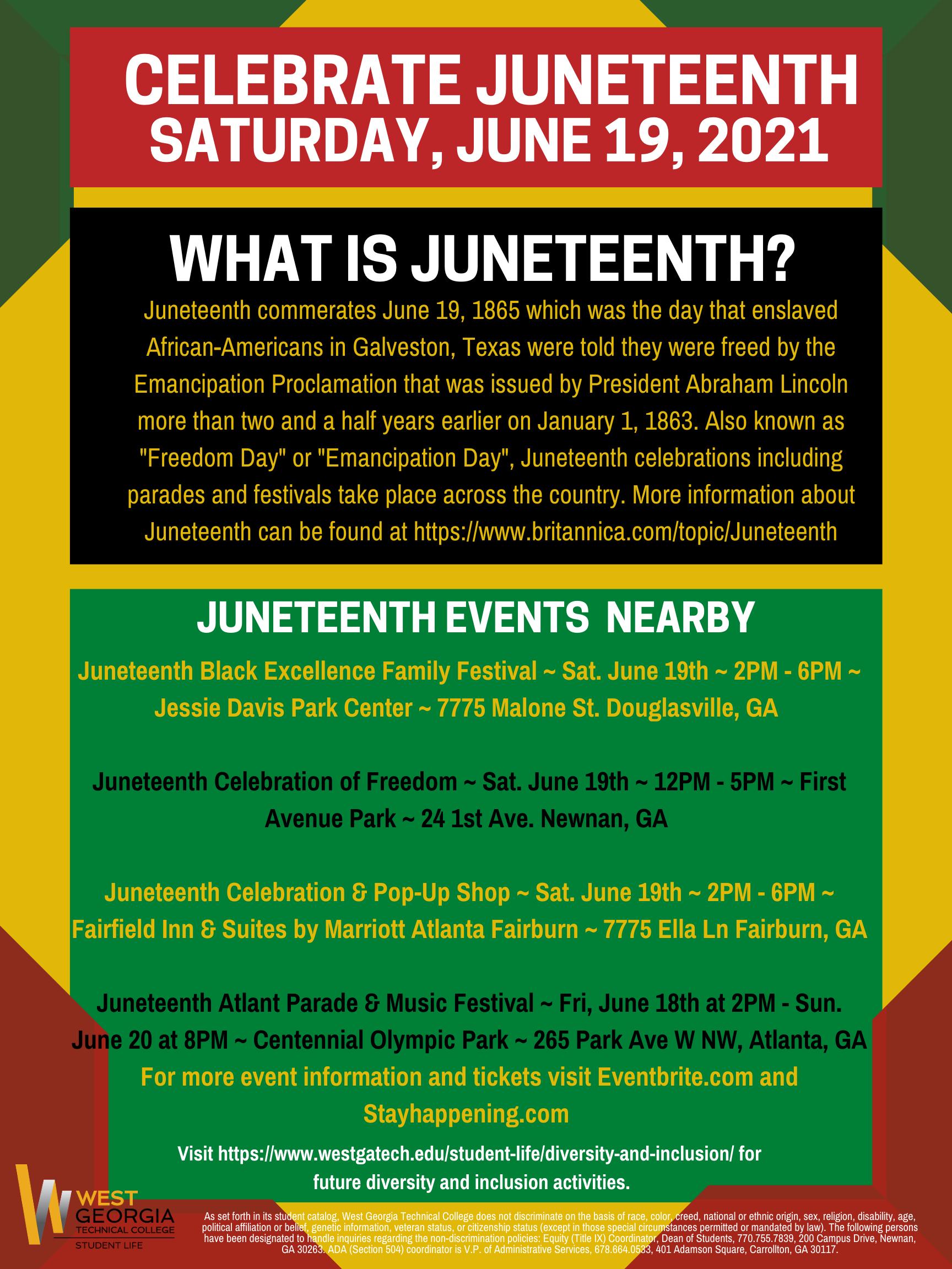 Juneteenth info flyer