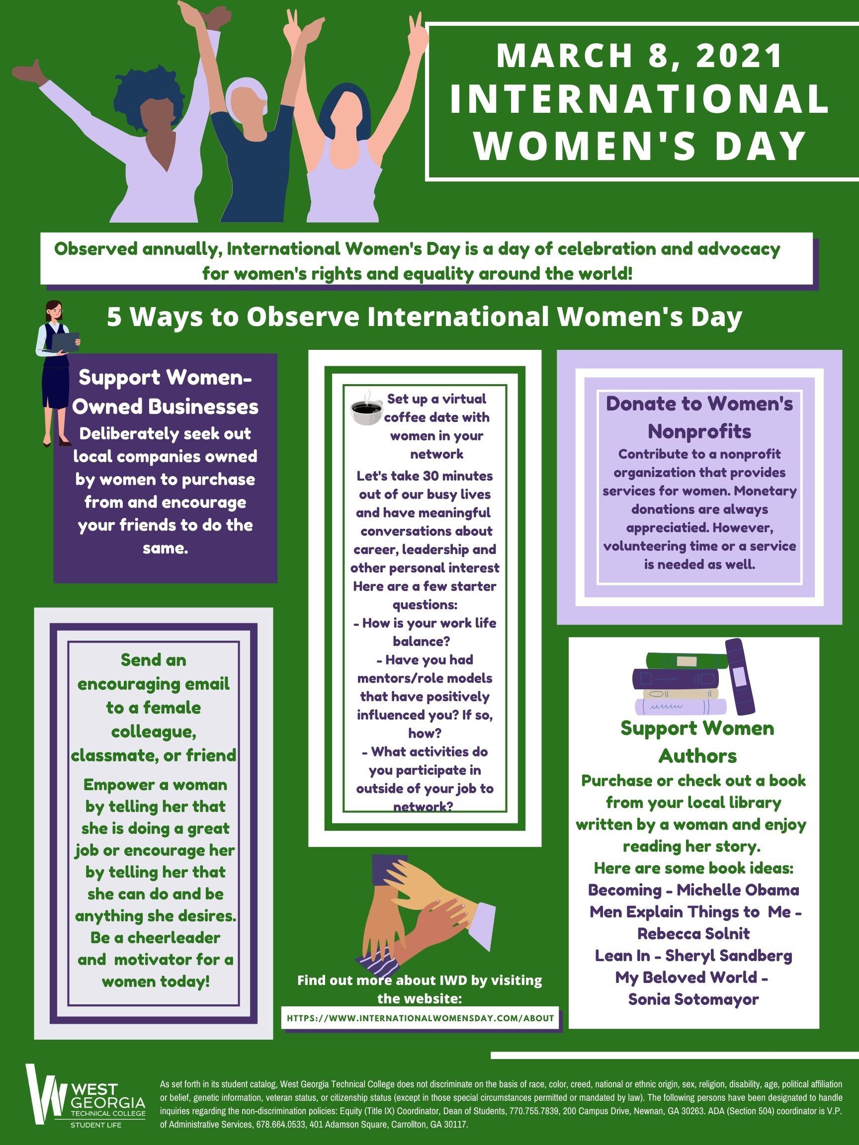 International Women's Day info flyer