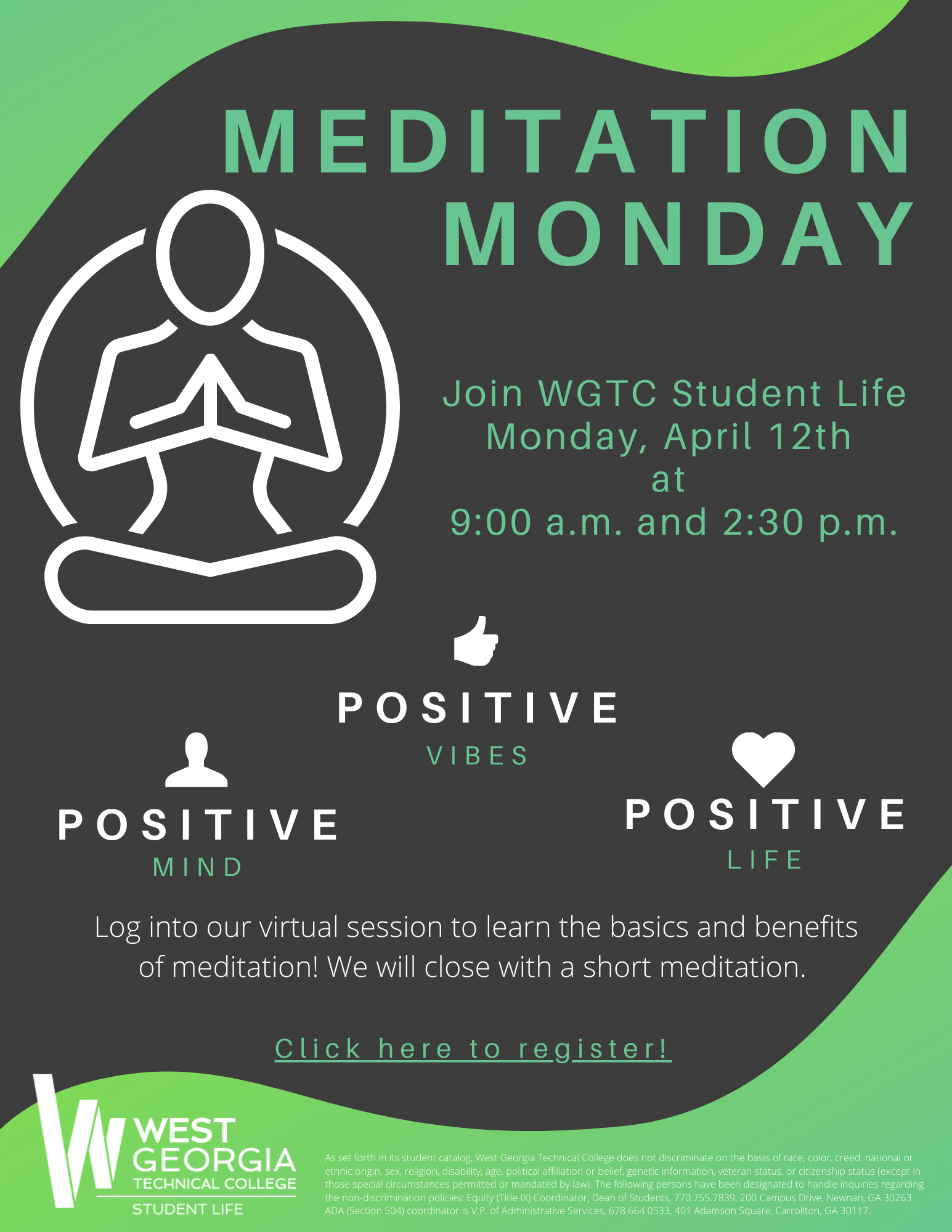 Meditation monday flyer