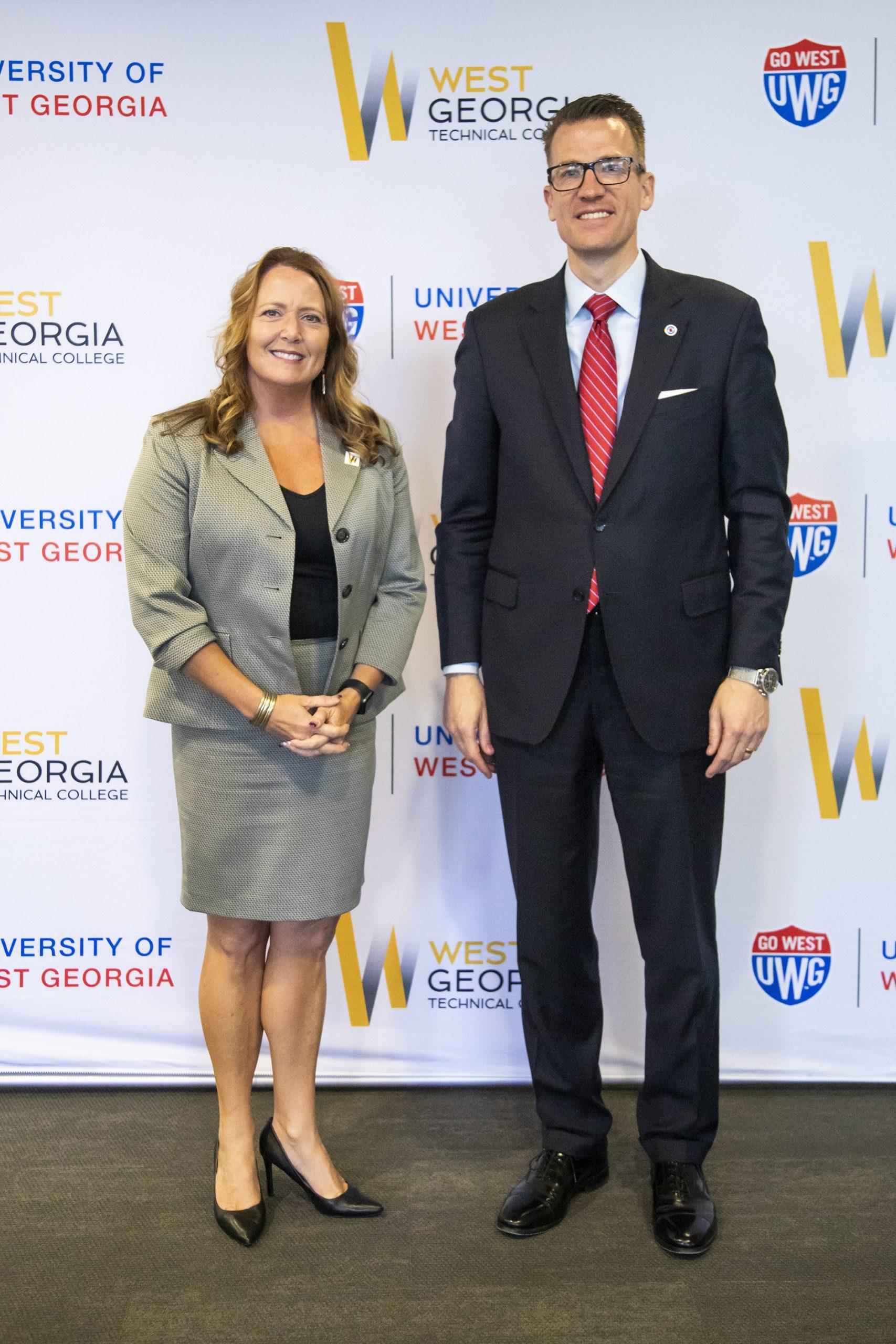 WGTC President Dr. Julie Post and UWG President Dr. Brendan Kelly
